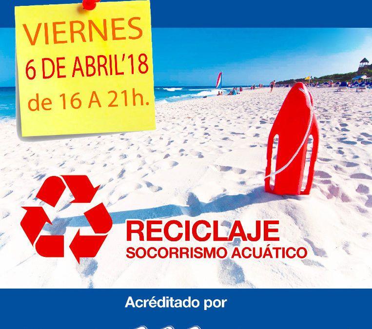 Reciclaje de socorrista acuático